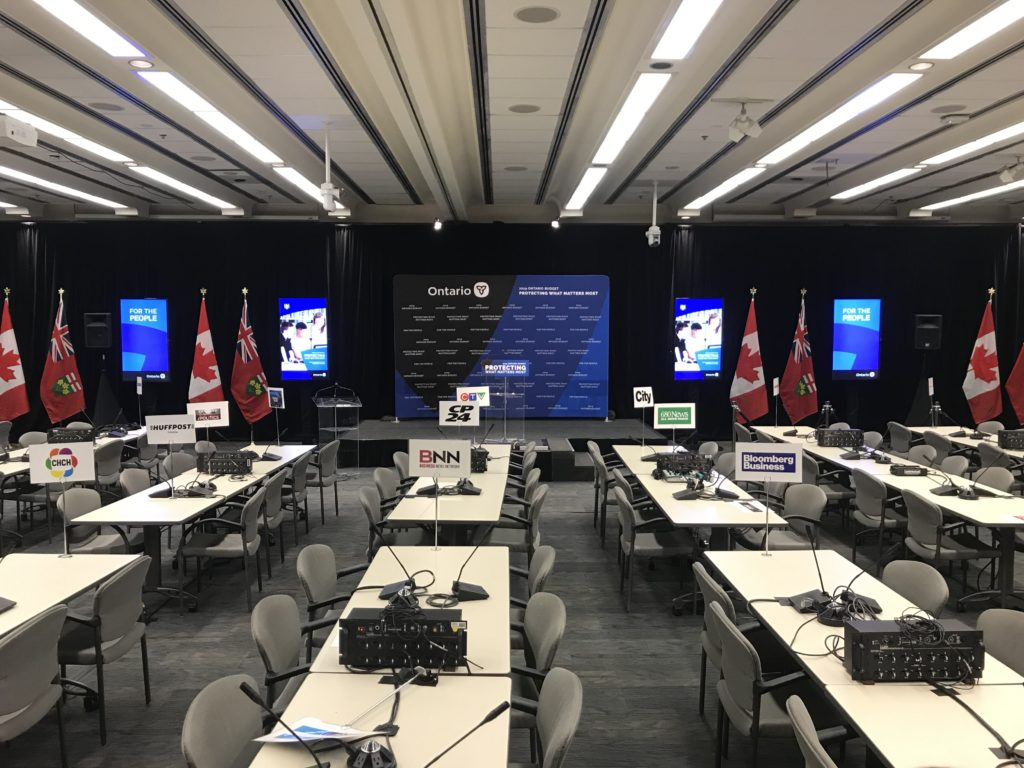 Ontario Government Provincial Budget - LiVECAST.ca A/V Production